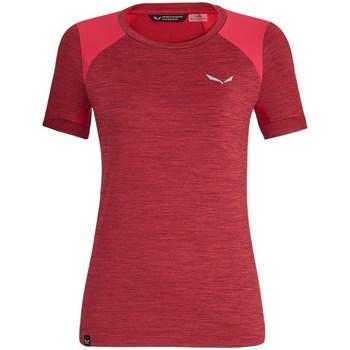 vaatteet Naiset Lyhythihainen t-paita Salewa 271251830 Kirsikanpunaiset