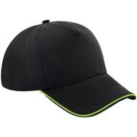 Asusteet / tarvikkeet Lippalakit Beechfield B25C Black/Lime Green