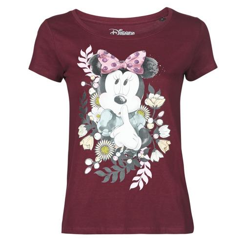 vaatteet Naiset Lyhythihainen t-paita Yurban OHJAVE Viininpunainen