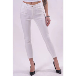 vaatteet Naiset Housut Fracomina FR21SP2002W40101 Valkoinen