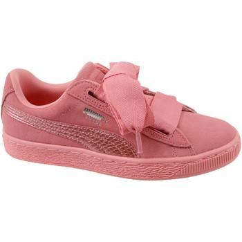 kengät Lapset Matalavartiset tennarit Puma Suede Heart SNK Jr 364918-05 Rose