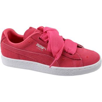 kengät Lapset Matalavartiset tennarit Puma Suede Heart Jr 365135-01 Rouge