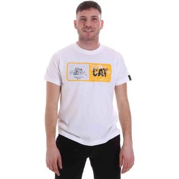 vaatteet Miehet Lyhythihainen t-paita Caterpillar 35CC302 Valkoinen