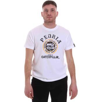 vaatteet Miehet Lyhythihainen t-paita Caterpillar 35CC301 Valkoinen