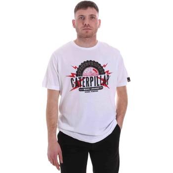 vaatteet Miehet Lyhythihainen t-paita Caterpillar 35CC2510232 Valkoinen
