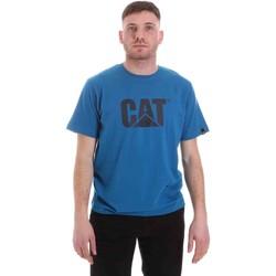 vaatteet Miehet Lyhythihainen t-paita Caterpillar 35CC2510150 Sininen