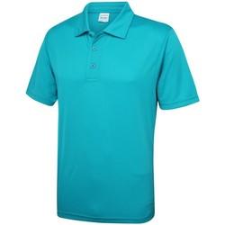 vaatteet Miehet Lyhythihainen poolopaita Awdis JC040 Turquoise Blue