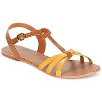 kengät Naiset Sandaalit ja avokkaat Betty London IXADOL Yellow / CAMEL
