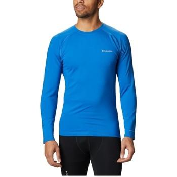vaatteet Miehet T-paidat pitkillä hihoilla Columbia Omni Heat 3D Knit Crew II Bleu