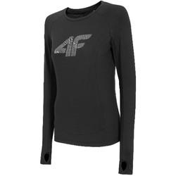 vaatteet Naiset T-paidat pitkillä hihoilla 4F Women's Functional Longsleeve Noir