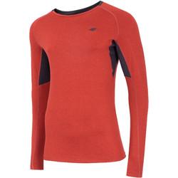vaatteet Miehet T-paidat pitkillä hihoilla 4F Men's Functional Longsleeve Rouge