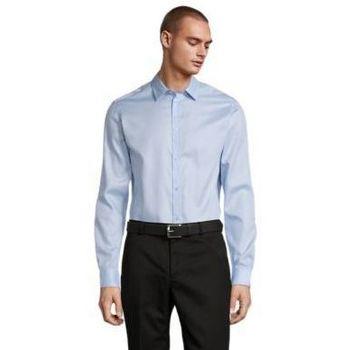 vaatteet Miehet Pitkähihainen paitapusero Sols BLAISE MEN Azul claro