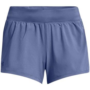vaatteet Naiset Shortsit / Bermuda-shortsit Under Armour Launch SW 3 Short Bleu