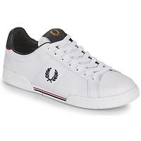 kengät Miehet Matalavartiset tennarit Fred Perry B722 Valkoinen