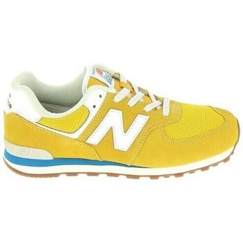 kengät Lapset Matalavartiset tennarit New Balance GC574 Jr Or Bleu Kulta