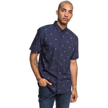 vaatteet Miehet Pitkähihainen paitapusero DC Shoes Up Pill Short Sleeve Shirt Sininen