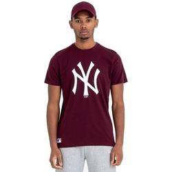 vaatteet Miehet Lyhythihainen t-paita New-Era Team Logo New York Yankees Ruskea
