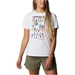 vaatteet Naiset Lyhythihainen t-paita Columbia Sun Trek W Graphic Tee Blanc
