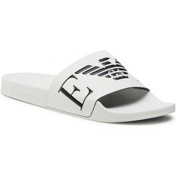 kengät Miehet Rantasandaalit Emporio Armani X4PS06 XM760 White black