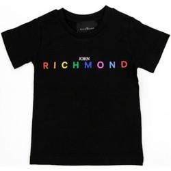 vaatteet Tytöt Lyhythihainen t-paita Richmond Kids RGP21123TS Black