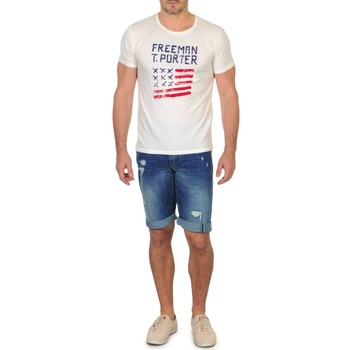 vaatteet Miehet Shortsit / Bermuda-shortsit Freeman T.Porter DADECI SHORT DENIM Blue