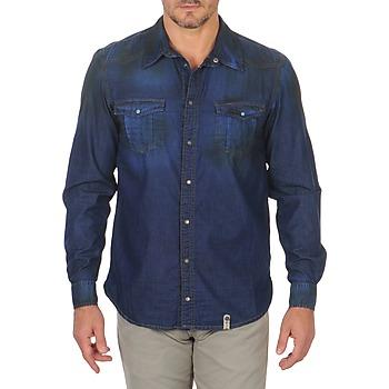 vaatteet Miehet Pitkähihainen paitapusero Freeman T.Porter CORWEND DENIM Blue