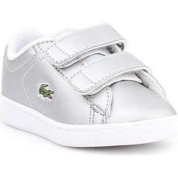 kengät Lapset Matalavartiset tennarit Lacoste Carnaby Evo Hopeanväriset