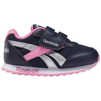 kengät Tytöt Matalavartiset tennarit Reebok Sport Royal CL Jogger Mustat, Hopeanväriset, Vaaleanpunaiset