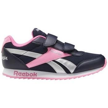 kengät Tytöt Matalavartiset tennarit Reebok Sport Royal CL Jogger Mustat, Vaaleanpunaiset