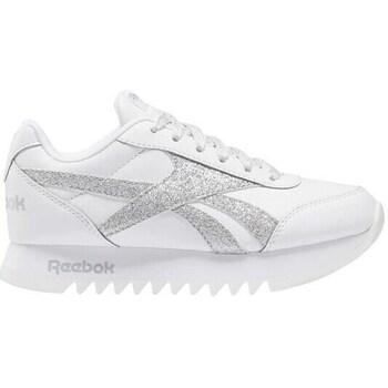 kengät Lapset Matalavartiset tennarit Reebok Sport Royal CL Jogger Valkoiset, Hopeanväriset