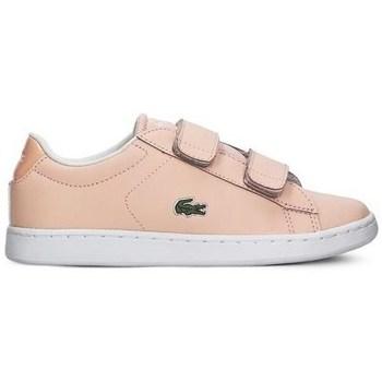 kengät Tytöt Matalavartiset tennarit Lacoste Carnaby Evo Strap Vaaleanpunaiset