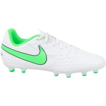 kengät Lapset Jalkapallokengät Nike JR Tiempo Legend 8 Club MG Valkoiset, Vihreät
