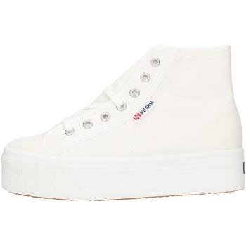 kengät Naiset Korkeavartiset tennarit Superga 2705HITTOP White