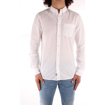 vaatteet Miehet Pitkähihainen paitapusero Blauer 21SBLUS01223 WHITE