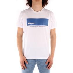 vaatteet Miehet Lyhythihainen t-paita Blauer 21SBLUH02132 WHITE