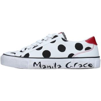kengät Naiset Matalavartiset tennarit Manila Grace S631CP WHITE