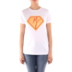 vaatteet Naiset Lyhythihainen t-paita Manila Grace T004CU WHITE
