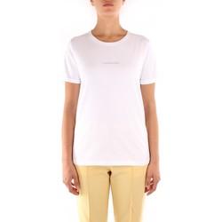 vaatteet Naiset Lyhythihainen t-paita Calvin Klein Jeans K20K202156 WHITE