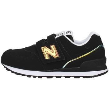 kengät Tytöt Matalavartiset tennarit New Balance YV574MTK BLACK