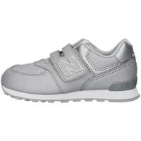 kengät Tytöt Matalavartiset tennarit New Balance IV574KS SILVER