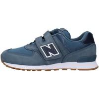 kengät Pojat Matalavartiset tennarit New Balance YV574PRN NAVY BLUE