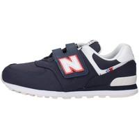 kengät Pojat Matalavartiset tennarit New Balance YV574SOP NAVY BLUE