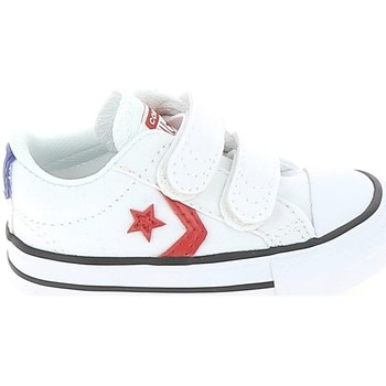 kengät Lapset Matalavartiset tennarit Converse Star Player 2V BB Blanc Rouge Valkoinen