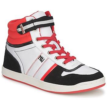 kengät Naiset Korkeavartiset tennarit Dorotennis STREET LACETS Punainen / Valkoinen / Musta