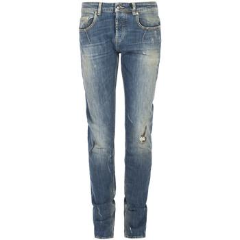 vaatteet Miehet Slim-farkut Les Hommes  Sininen