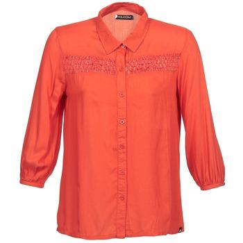 vaatteet Naiset Pitkähihainen paitapusero Volcom KNOTTY Red