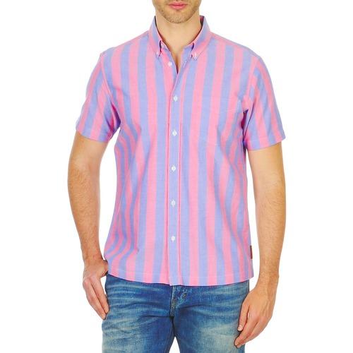 vaatteet Miehet Lyhythihainen paitapusero Ben Sherman BEMA00487S Pink / Blue