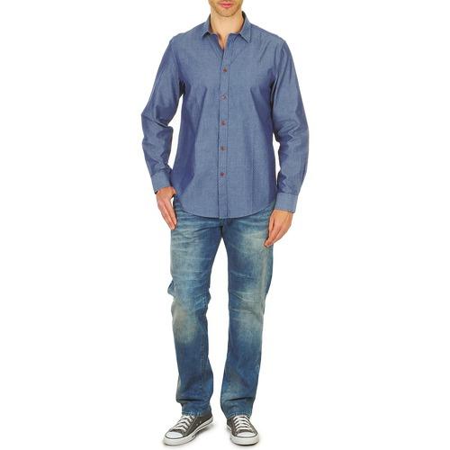 Ben Sherman Bema00490 Blue - Ilmainen Toimitus- Vaatteet Pitkähihainen Paitapusero Miehet 70