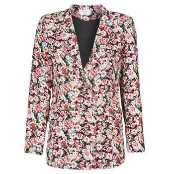 vaatteet Naiset Takit / Bleiserit Betty London OBIMBA Musta / Vaaleanpunainen