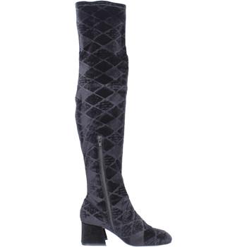 kengät Naiset Ylipolvensaappaat Apepazza BJ801 Musta